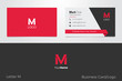 M Letter Logo Corporate Business card - 76983499
