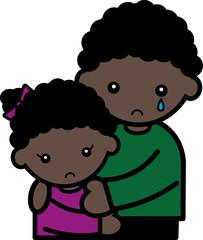 涙・黒人の兄妹