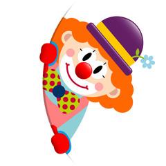 Clown Round Banner