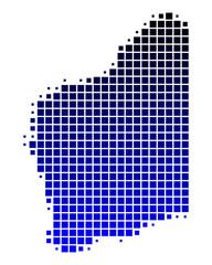 Karte von Western Australia