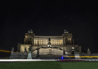 vittoriano rome by night Altar of the Fatherland italy