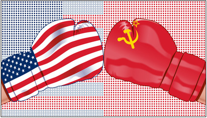 The tension between the United States and the Soviet Union