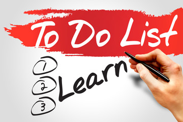 Learn in To Do List, business concept