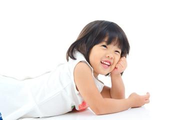 Cheerful asian girl