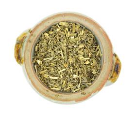 Organic wormwood in small bowl