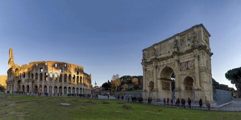 arch costantino colosseum rome arena italy