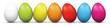 Ostereier, Eier, Ostern, Easter Eggs, nebeneinander, mehrere, 3D - 76987017