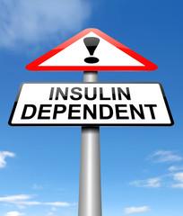 Insulin dependency concept.