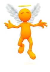 3d Guy: Angel Flying in Air
