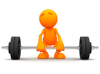 3d Guy: Trying to Lift Barbell