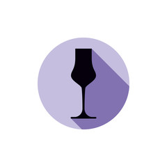 Alcohol theme icon, champagne goblet placed in a circle. Colorfu