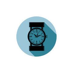 Stylish wristwatch illustration, elegant timepiece with dial and