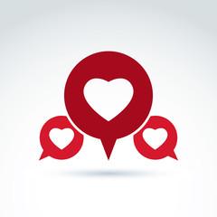 Round family consultation symbol, discussion forum and conversat