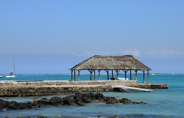 Africa, picturesque area of La Pointe Aux Canonniers in Mauritiu