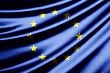 Waving flag of the European Union