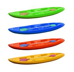 colored kayaks