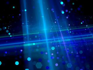 Blue business fractal