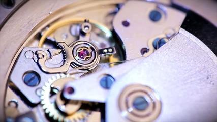 pendulum clocks close up