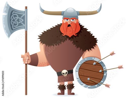 fototapeta na ścianę Viking na białym tle