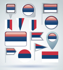 Flag of Serbia, vector illustration