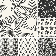 Thin lines backgrounds with pentagonal star