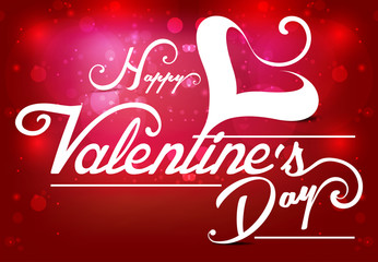 Vector valentine day Text Background Illustration with Heart