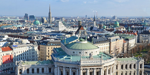 wien, panorama, city, stephansdom