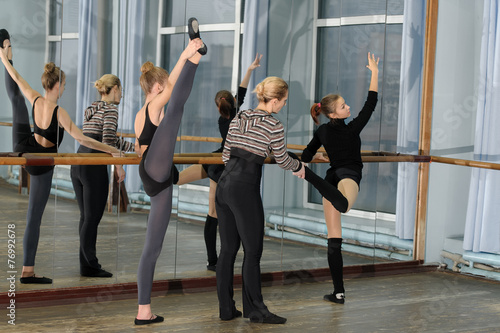 Canvas Dance School Ballet class in studio with choreographer