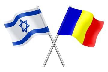 Flags: Israel and Romania