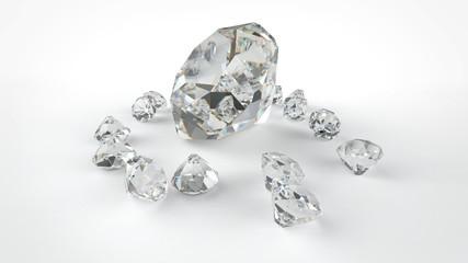 Diamonds on a gray background