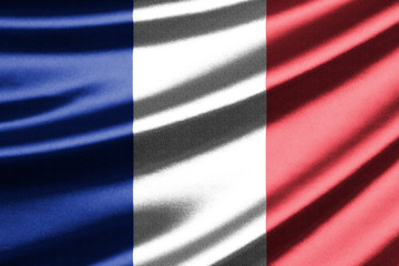 Waving flag of the France