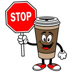 Coffee with Stop Sign