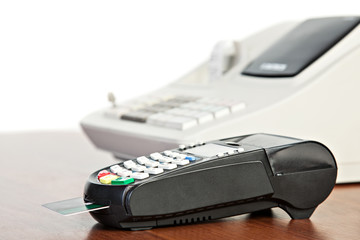 Credit Card reader and  cash register