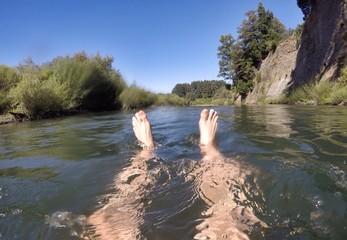 schwimmer schwimmen selfie