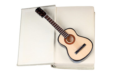Book and classic guitar