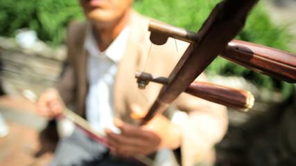 Chinese musician Erhu violin music Great Wall Mutianyu