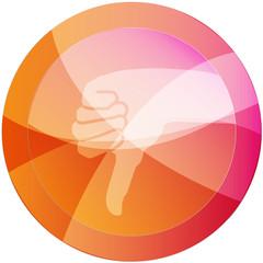 negativ vector button