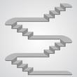 Staircase 3d. Vector