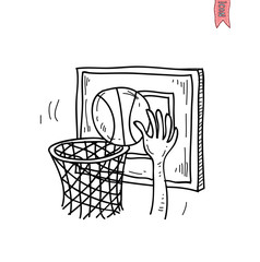 Basket ball icon, vector illustration.