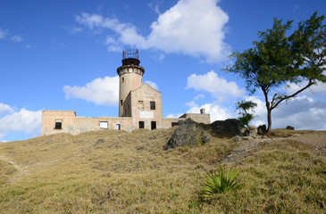 Mauritius, picturesque lighthouse island in Mahebourg aera