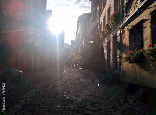 canvas print picture Gasse