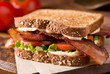 Bacon, Lettuce, and Tomato BLT Sandwich - 76998468