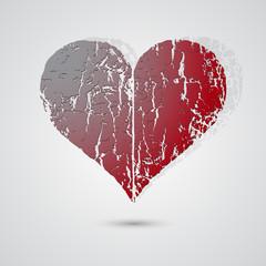 Heart on Valentines background
