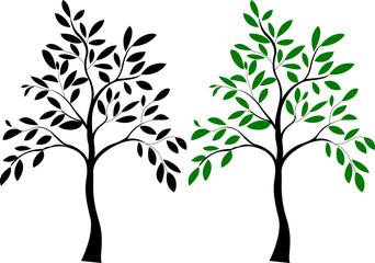 Illustration of tree silhouette