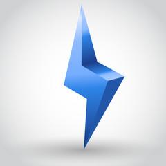 Vector illustration of sparkling lightning bolt