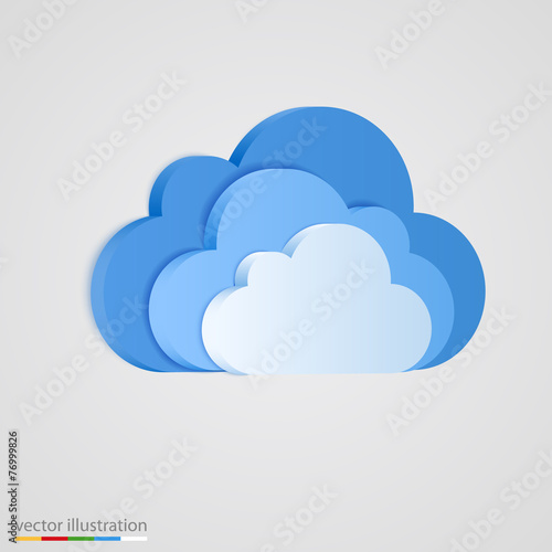 Three layer of blue clouds. - 76999826
