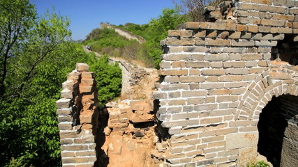 The Great Wall of China Watchtower disrepair people Beijing