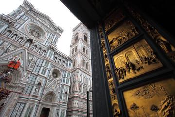 Toscana,Firenze,Il Duomo e la Porta del Paradiso del Battistero