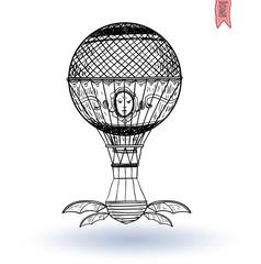 Steampunk vintage hot air balloon