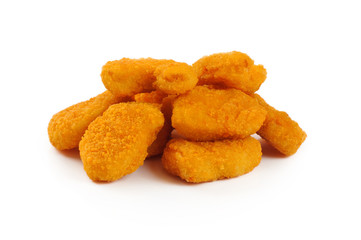 Nuggets isolated on white background